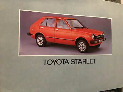 Catalogue / Brochure TOYOTA STARLET de 1980 --
