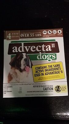 Advecta II  for X-Large Dogs Over 55 lbs. 4 Month Supply 100% Authentic