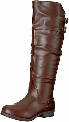 8eaf517e898c ... Extra Wide Calf Ankle Strap Knee High Boots.