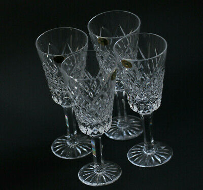 4 Vintage Tyrone Crystal Glasses Wine or Sherry Hand Cut Irish Lead Crystal