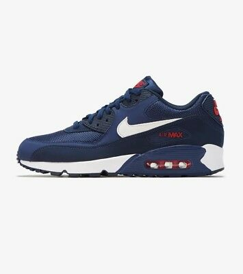 promo code 82aef 8337f AJ1285-403 Nike Air Max  90 Essential Running Navy White-Red Sizes