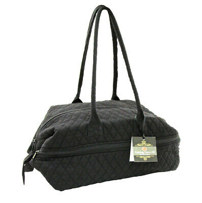 SEW EASY  Quilted Knitting Craft Carry Bag - Black - Knit - Crochet - Yarn