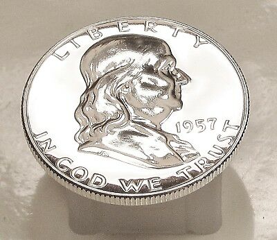 1957  Franklin   Choice  Proof   90%   Silver  >Coin  as  Pictured<  #1108  7