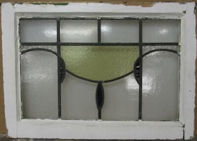 """MID SIZED OLD ENGLISH LEADED STAINED GLASS WINDOW Geometric Sweep 25"""" x 18"""""""