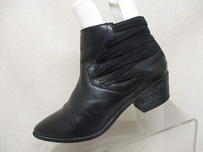 678795836 Circus by Sam Edelman Black Leather Zip Ankle Boots Booties Size 6 M -  HOLLIS