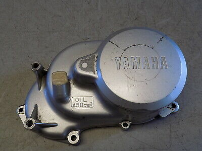 81 Yamaha LC 50 Champ Right Engine Motor Transmission Clutch Cover FastFreeShipA