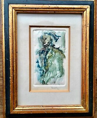 Extremely Rare Signed Original Art Painting By Late Italian Artist Rocco Borella