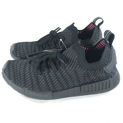 6fc338eb7013 Adidas NMD R1 STLT PK Primeknit Triple Black Boost Shoes Men s Size 9 CQ2391