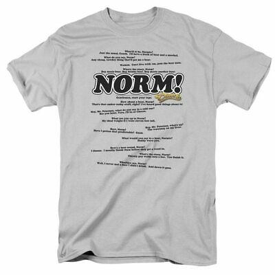 Gray Norm Cheers Quotes CBS T Shirt Tee $20 MRSP NEW