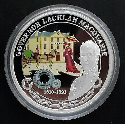 2008 Tuvalu Australian Governors: Lachlan MacQuarie 1oz Silver (.999) $1 coin