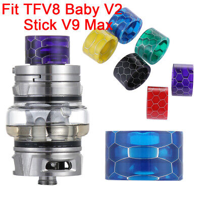 810 Drip Tip Epoxy Snake Resin Mouthpiece Cap For TFV8 Baby V2 Stick V9 Great