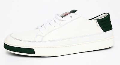 1adb4eabdf7 GUCCI MEN S LACE Up White Leather Sneakers Sz 9G 2911 -  342.00 ...