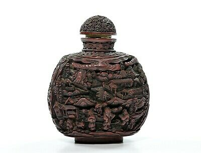 A Large Chinese Lacquer Snuff Bottle