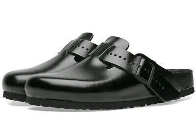63558b98168 New RICK OWENS X BIRKENSTOCK BOSTON EXQUISITE LEATHER CLOG BLK US 9 Men s  EU 42