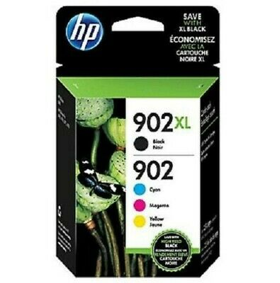 BRAND NEW SEALED Genuine HP 902XL/902 4 Ink Combo Retail Box Pack T0A39AN 2020