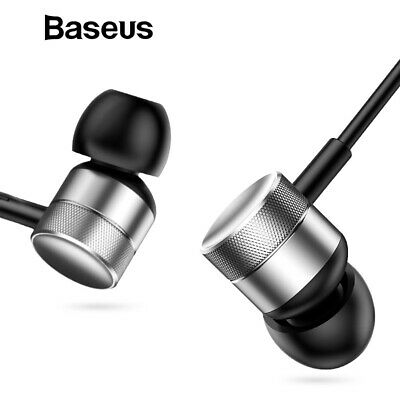 Baseus HIFI Stereo Bass Sound Earphone In Ear with mic Headset 3.5mm AUX Earbuds