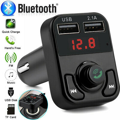 Bluetooth4.1 Car FM Transmitter Wireless Radio Adapter USB Charger Mp3 Player TF