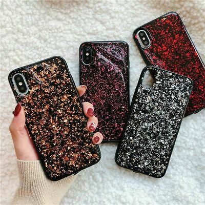 iPhone XS Max XR X 8 7 6 Plus Case Bling Glitter Shockproof Soft Cover for Apple