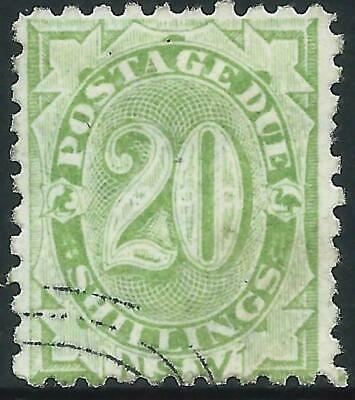 AUSTRALIA - 1891 POSTAGE DUE 20/- 'DULL GREEN'  BW ND37 CTO cv$150 [A0089]