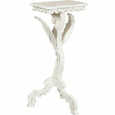Solid mahogany wood, antiqued white finish  W48xDP36xH94 cm sized little stand p