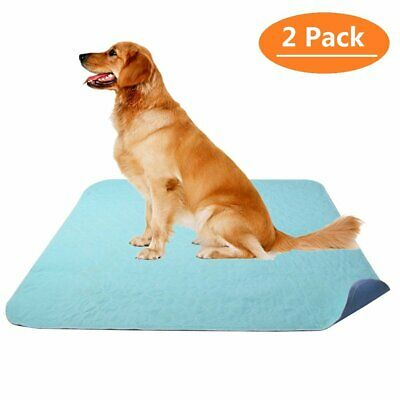 2Pack Washable Pee Pads for Dogs  - Reusable Puppy Pads - Potty Training Dog Mat