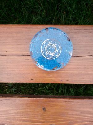 orgonite sous-verre double face - fleur de lotus