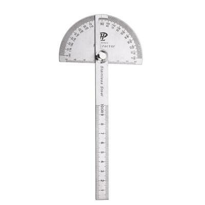 Stainless Steel 180 degree Protractor Angle Finder Rotary Measuring Ruler #YB