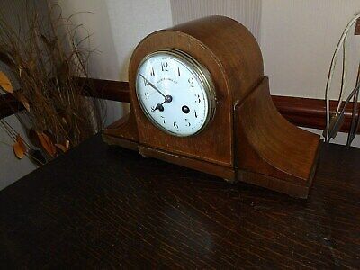 Walker & Hall Mahogany Cased Mantle Clock,french Movement,working
