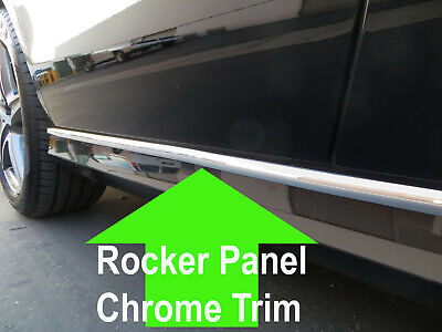 LINCOLN CHROME ROCKER PANEL TRIM MOLDING 2PC W//5YR WRNTY+FREE INTERIOR PC