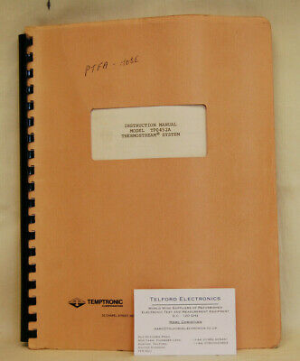 Temptronic TP0452A ThermoStream System Instruction Manual