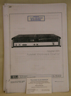 EIP Microwave. 331 Autohet Microwave Counter Operating & Service Manual Copy