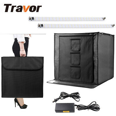 UK Studio Light Room Portable Photography Box Photo Led Tent Foldable Cube 60cm