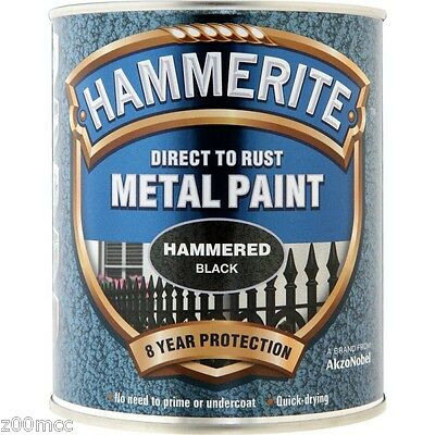 Hammerite Hammered Direct to Paint 750ml Black SIlver White Blue Copper Green