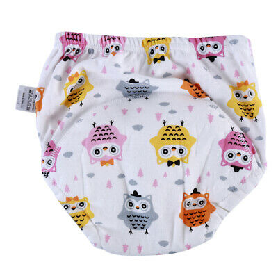 Colorful Toddler Soft Cloth Diaper Cover Toilet Training Printed Pants Nappy 6A