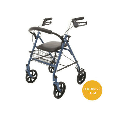 Ability Superstore Exclusive Blue Jay 4 Wheel Rollator With Durable Steel Frame