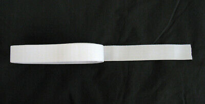 5metres of White Elastic 30mm