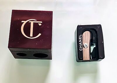 make up pencil sharpeners bundle - charlotte tilbury and chanel, authentic, new