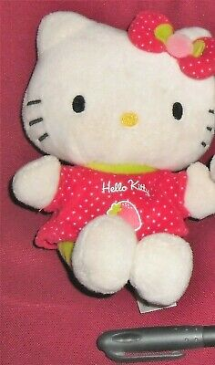 1 PELUCHE PLUSH GATTA SANRIO KAWAAI CAT-HELLO KITTY GATTINA FRAGOLA STRAWBERRY x