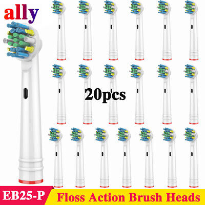 20 Pcs Electric Tooth Brush Heads Replacement for Braun Oral B Floss Action