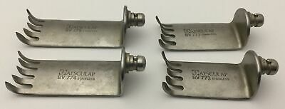 Aesculap Lot Of 4 Surgical Retractor Blades