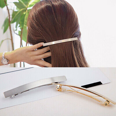 Simple Metal Long Hairpin Women Hair Clip Barrette Bobby Pin Girls Hairgrip Gift
