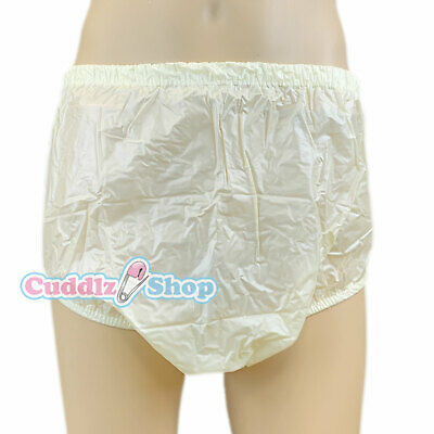 Cuddlz Adult Size Lemon Yellow Pull Up PVC Plastic Pants Incontinence Briefs