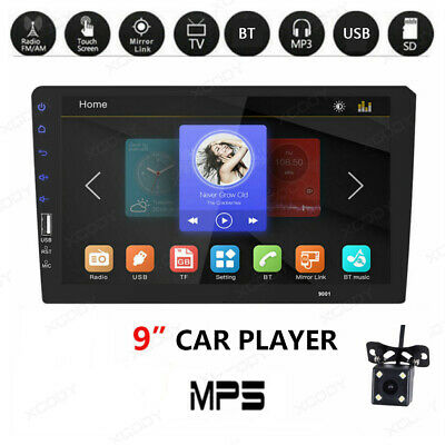 """1 Din 9"""" Car FM/USB/AUX MP5 Player Touch Screen Stereo Radio BT Rear Camera Kits"""
