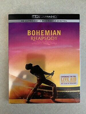 Bohemian Rhapsody (4K Ultra Hd + Blu-Ray + Digital) W/ Slipcover