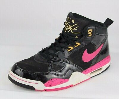 huge selection of 63d92 c2ff1 Nike air flight 2013 women s sneakers black pink shoes high top laces size  US 11