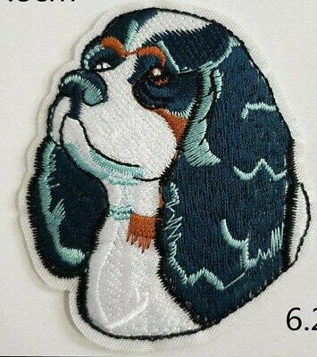 Ruby Cavalier King Charles Spaniel Embroidered Motif Iron//Sew On Patch Badge Dog