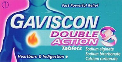 2 x 48 tabs - Gaviscon Double Action MINT 250mg Chewable Heartburn & Indigestion