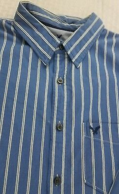 American Eagle VIntage Fit Size L Dress Shirt Blue/White  (g2)