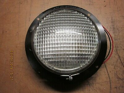 "Vintage Tractor / Trailer 6 Volt 7"" Dome Light Circa 40'S 50'S"
