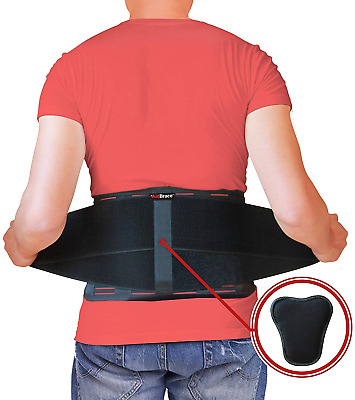 AidBrace Back Brace Support Belt - Helps Men & Women Relieve Lower Back Pain, or